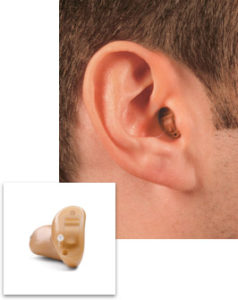 CIC style hearing aid in ear